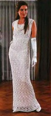 вязаное платье со шлейфом2