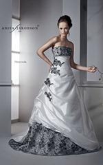 черно-белое свадебное платье Anita Jakobson