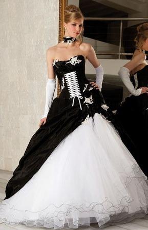 Wedding Saloon :: черно-белое свадебное платье - Свадебные платья