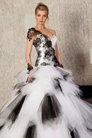 черно-белое свадебное платье Dany Pour Alain