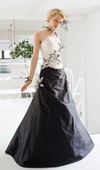 черно-белое свадебное платье Francesco Reli
