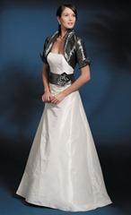 черно-белое свадебное платье Marylise