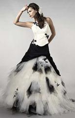 черно-белое свадебное платье Nuptialco