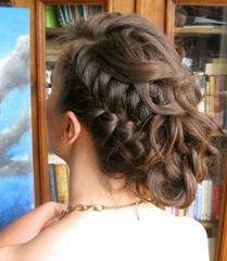 ретро-прическа с косой