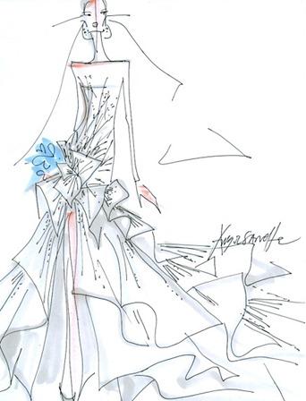свадебное платье Анджелины Джоли от Agel Sanchez