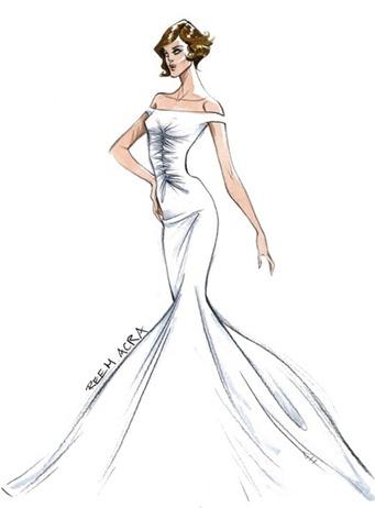 Свадебное платье Анджелины Джоли от Reem Acra
