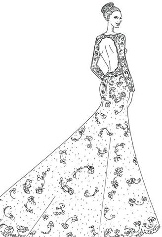 свадебное платье Анджелины Джоли от alfred angelo