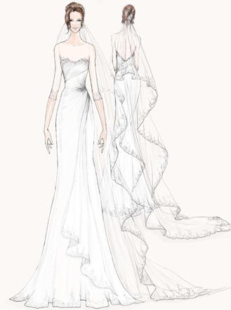 cвадебное платье Анджелины Джоли от Watters