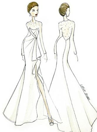 cвадебное платье Анджелины Джоли от lela rose