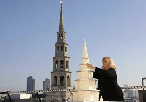 торт в стиле церкви