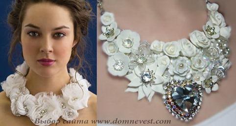 свадебное колье с цветами