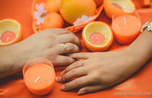 идеи для свадьбы в оранжевом цвете