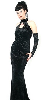 бархатное готическое платье