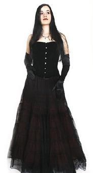 корсет и юбка в готическом стиле