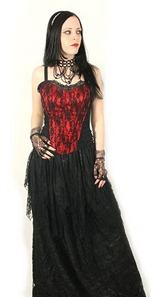 черно-красное свадебное платье