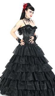 готическое свадебное платье принцесса