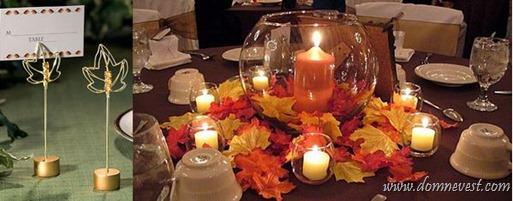 листья в оформлении свадьбы
