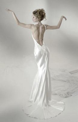 открытая спина свадебное платье