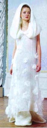 вязаное платье для венчания