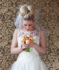бант из волос на свадьбу