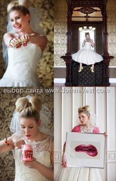 невеста с прической бант из волос