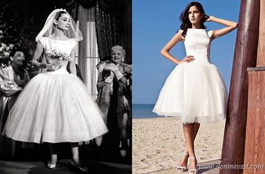 копия свадебного платья Одри Хепберн