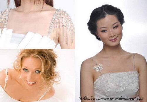 Украсить свадебное платье своими руками стразами
