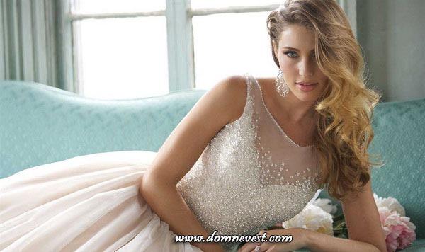 свадебные платья с иллюзией декольте