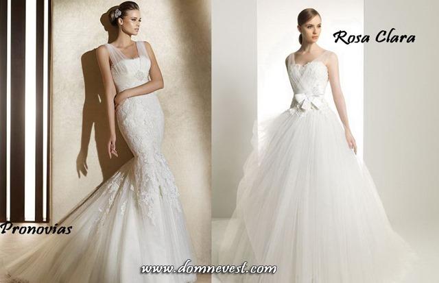 свадебные платья с полупрозрачными бретельками