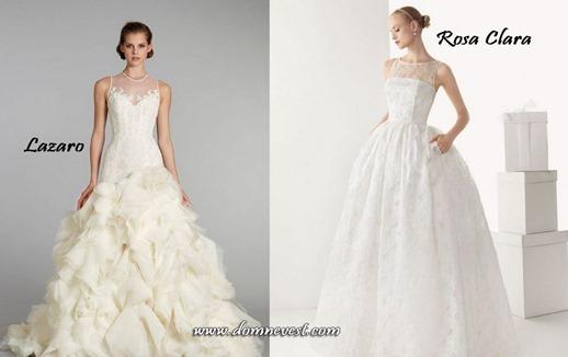 иллюзия декольте свадебного платья