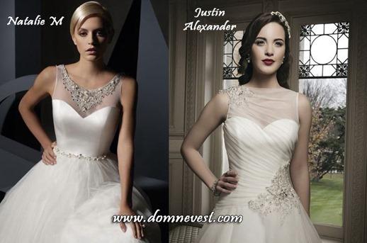 свадебные платья с украшениями