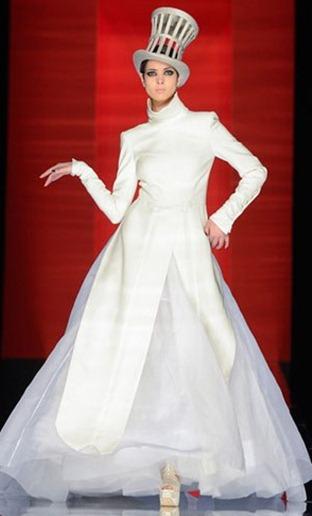 свадебное платье gaultier
