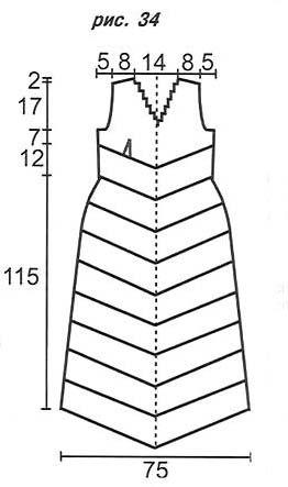 выкройка вязаного свадебного платья