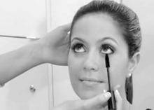 искуственные ресницы макияж