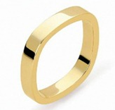 обручальное кольцо квадрат scherle