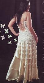 свадебное платье вязание и ткань