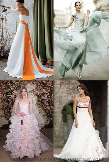 весенние свадебные платья 2012