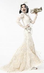 вязаное свадебное платье 2012