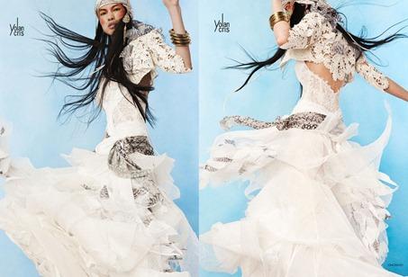 вязаное болеро для невесты