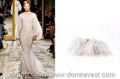 пушистая свадебная сумочка