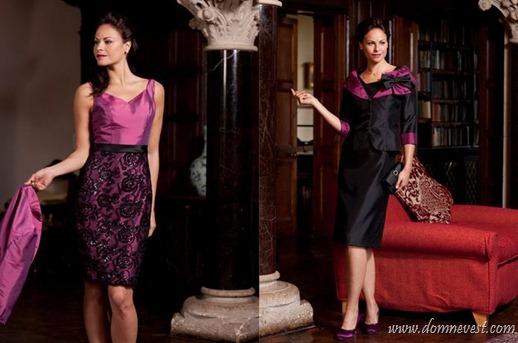 черно-фиолетовые платья для мамы