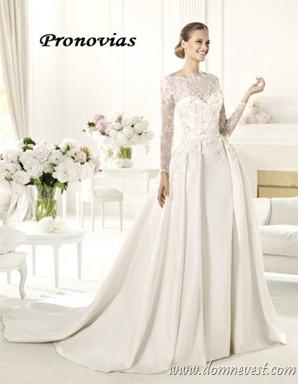 свадебное платье в стиле Грейс Келли Pronovias 2013