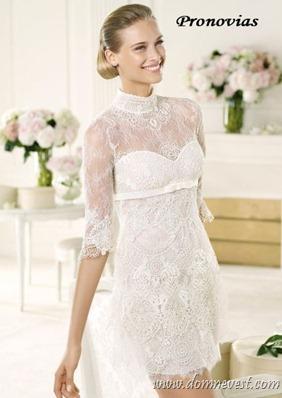 короткое свадебное платье pronovias