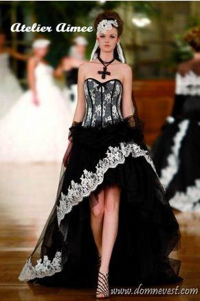 Черно-белые свадебные платья 2013 | Дом невест