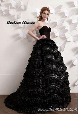 черное свадебное платье Atelier Aimee