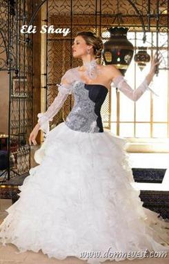 черно-белое свадебное платье Eli Shay