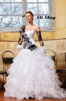 бело-черное свадебное платье