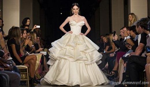 свадебные платья на неделе моды в Нью Йорке
