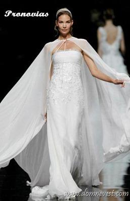 свадебная накидка Pronovias 2013