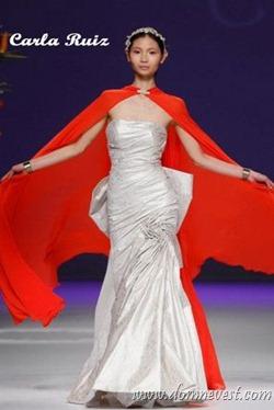 красная свадебная накидка